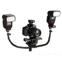 ET-FB06 NEW Flexible Dual Mount Flash Bracket Camera flash bracket for tripod