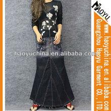 Fashion original women 100%cotton dresses,rough selvedge women denim maxi dresses (HY161)