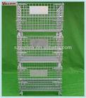 Storage Metal Wire Mesh Baskets Galvanized Steel Cage