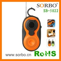 USB Rechargeable Shower Radio with Dynamo Generator