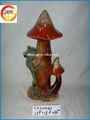 cerámica de setas con la rana decoración del hogar