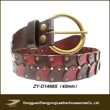 Stitching leather work belt leather gun belt