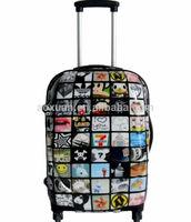 ABS+PC trolley luggage bag children travel trolley luggage bag