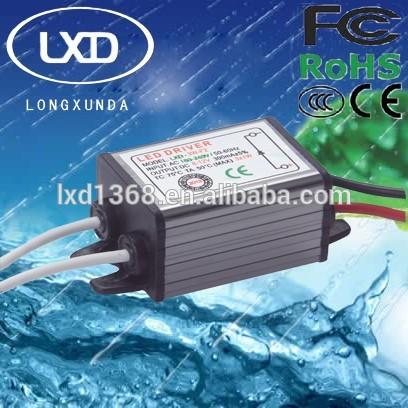 3W waterproof constant current led driver with 300mA 350mA 450mA 600mA 700mA 900mA