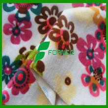 220CM 200GSM screen printing micro velboa/ flower print fabric