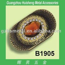 Luxury Rhinestone Buckle_stylish metal bag buckle_