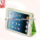 Green Letter Leather Cover for iPad Mini Folio Case