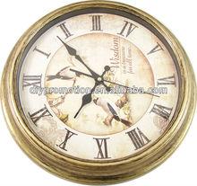 Wholesale cheap bronze diy metal quartz wall clock winner