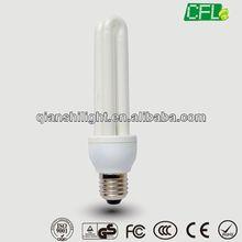 China tri-color 8000h 6000h high quality E27 2U 15W cfl lamp holder CE EMC RoHS GS