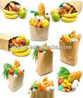 wax coated paper bag food,foil lined paper food packaging bag,aluminum foil paper bag for hot food