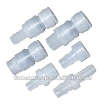 Plastic Hydraulic Quick Coupler Tube Connectors Made of POM and PP