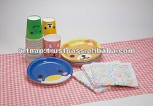 Disposable Fancy Paper Plate : packs of 5 ( 4 assorted styles )