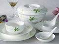 Con estilo turco real de bellas bone china boles/cuencos de cerámica de porcelana de la placa de melamina