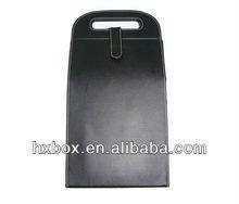 Elegant Black PU Leather Wine Box/holder/case