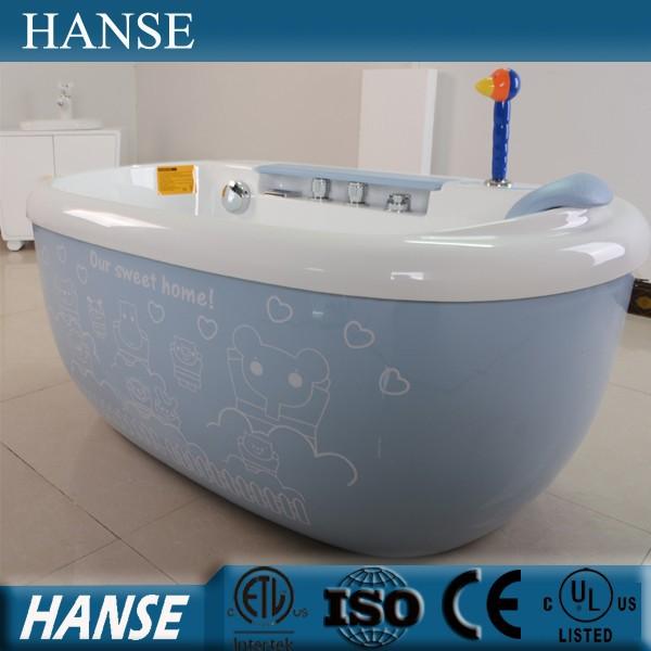HS-B1692 hot selling water massage colorful acrylic cute baby bathtub