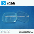Oval clear candy plastic tube container