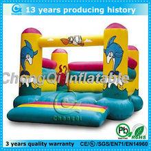 Fashion design sea theme inflatable dolphin bouncer