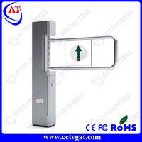 Waist high security mechanical bi-directional turnstile price gate barrier door RFID interface swing