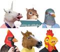 Halloween máscara de la cabeza, cabeza de animal máscara, adultos maks hecho de máscara de látex para el partido