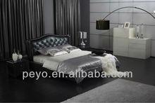 bedroom furniture leather black leather bed B221
