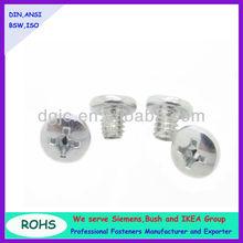 Factory price iron pan head triangle thread machine screw