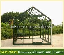 Superior tempered glass greenhouse aluminium led profile