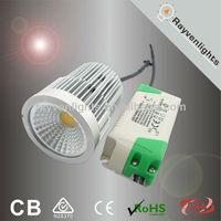 saa ce rohs led spot light 9W cob led ceiling light with external driver