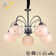 GZ20467-5P simple ball shape glass chandelier,pendant lighting hanging lamp,villa project chandelier lighting