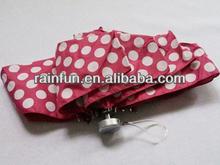 Dot Print Purse Size Mini Folding Golf Umbrella