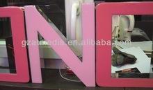 Resin led letter, plastic light box letter sign, led advertising light box letters