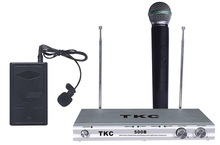 Headset wireless microphone system,TKC 500B VHF 2-Channels Wireless Microphone System,KTV Conference System Lecture Use