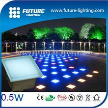 2014 new design color changing waterproof led light glass bricks