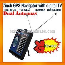 2013Newest 7inch Car GPS Navigation Full Seg ISDB-T Digital TV+Dual Antenna+MTK+AV IN+FMT+800Mhz+DDRAM 256MB+Wince 6.0+Free Map