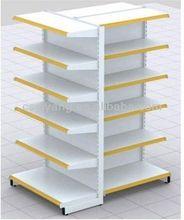 (plain backboard) single-side supermarket wall shelf
