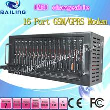 16 multi sim pool modem wavecom q2406 q24plus support imei changeable open at command