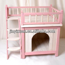 Princess palace outdoor cat house / Indoor cat house with a rooftop balcony