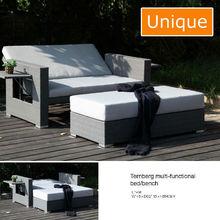 Alum wicker multi-functional Rattan Garden Sets outdoor furniture