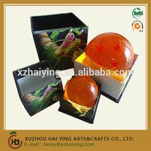 Crystal dragon ball z with color box