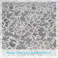 Fashion top nylon/cotton white textile lace fabric for sale
