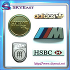 Shiny Metal Logo Plates With Painted And Printed Colors