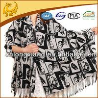 women's cashmere hand feeling silk pashmina shawl