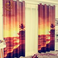 custom blackout 3D digital printing curtain 3D photo curtain 3D window curtains
