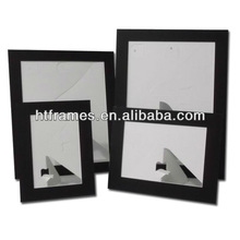 Newest cheap recycled acid free christmas day gift black cardboard photo frame 4x6 5x7 8x10 a4
