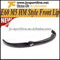 06-10 hm estilo e60 m5 lábio pára-choque dianteiro de carbono lábio dianteiro para bmw caber e60 m5 sedan
