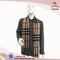 2014 de lana hechos a mano de los hombres bufanda de rayas, venta al por mayor de tela bufanda