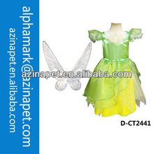 Halloween fairy costume with wings/Halloween green fairy costumes/dress