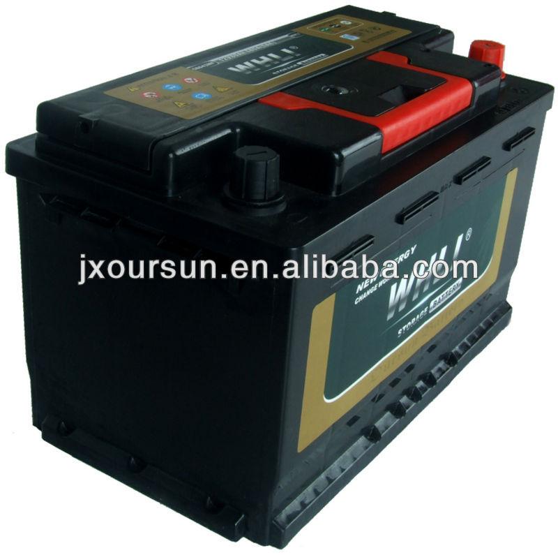 AUTO SPART PART 12 VOLTA Lead Acid Car Battery 58035MF 12V80AH WHLI
