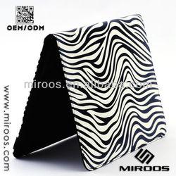 Western Style Zebra Leather Case for iPad 2/3/4