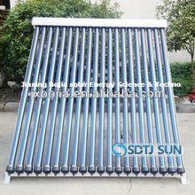 2014 pressurized vacuum tube heat pipe solar collector cheap price