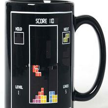 novel toy bricks color changing cup, heat sensitive ceramic mug